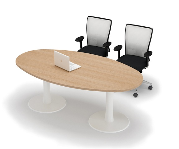 Ovale vergadertafel