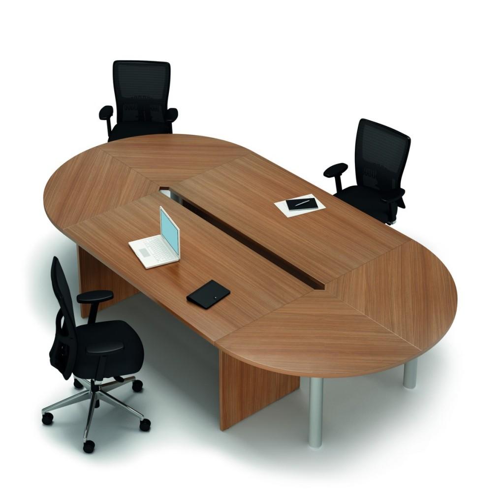 Ovale vergader tafel