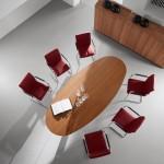 Ovale vergadertafel 200cm