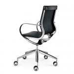 Design stoel met lage rugleuning