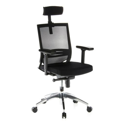Bureaustoel met hoofdsteun