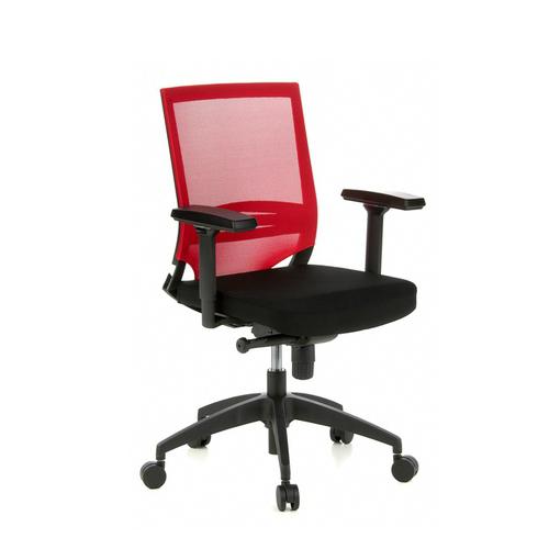 Bureaustoel zwart/rood