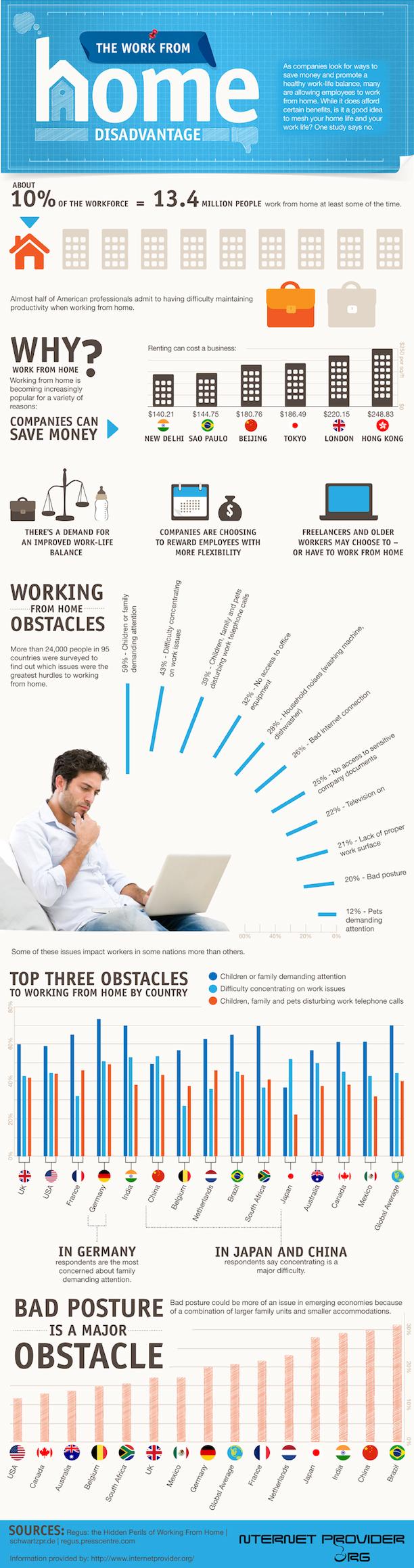 Thuiswerken infographic